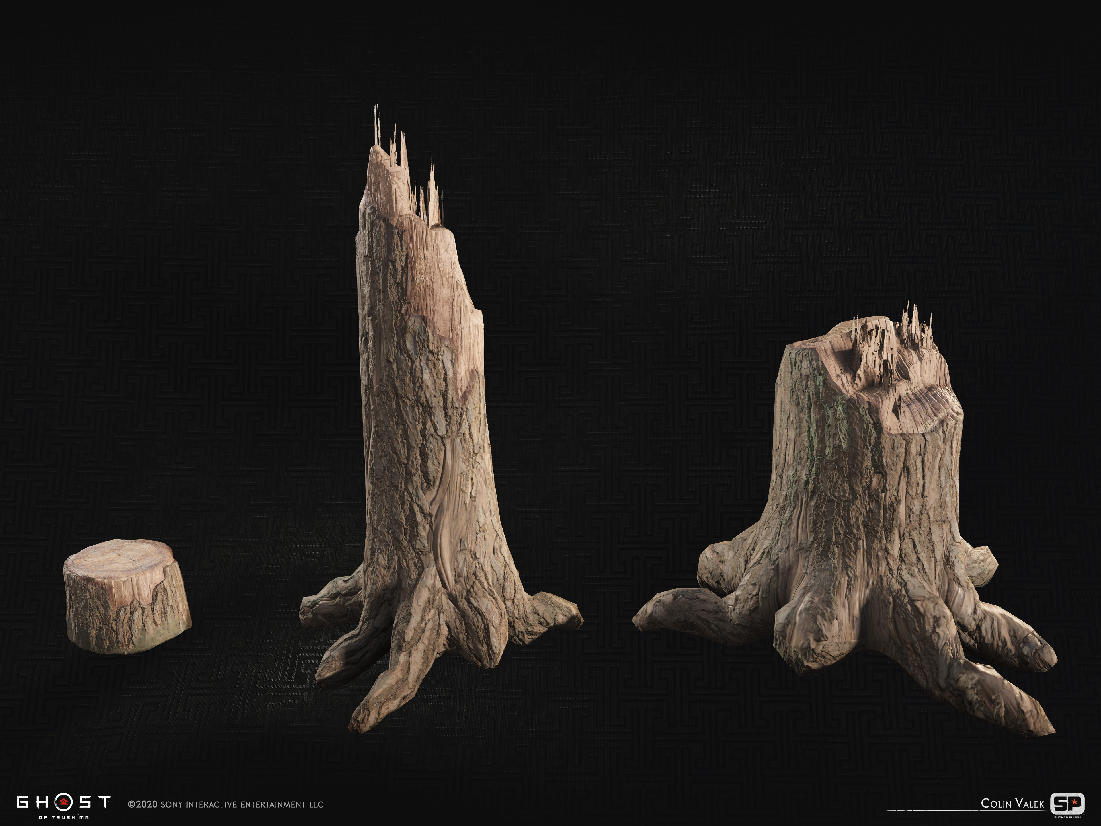 A few tree stump variants.