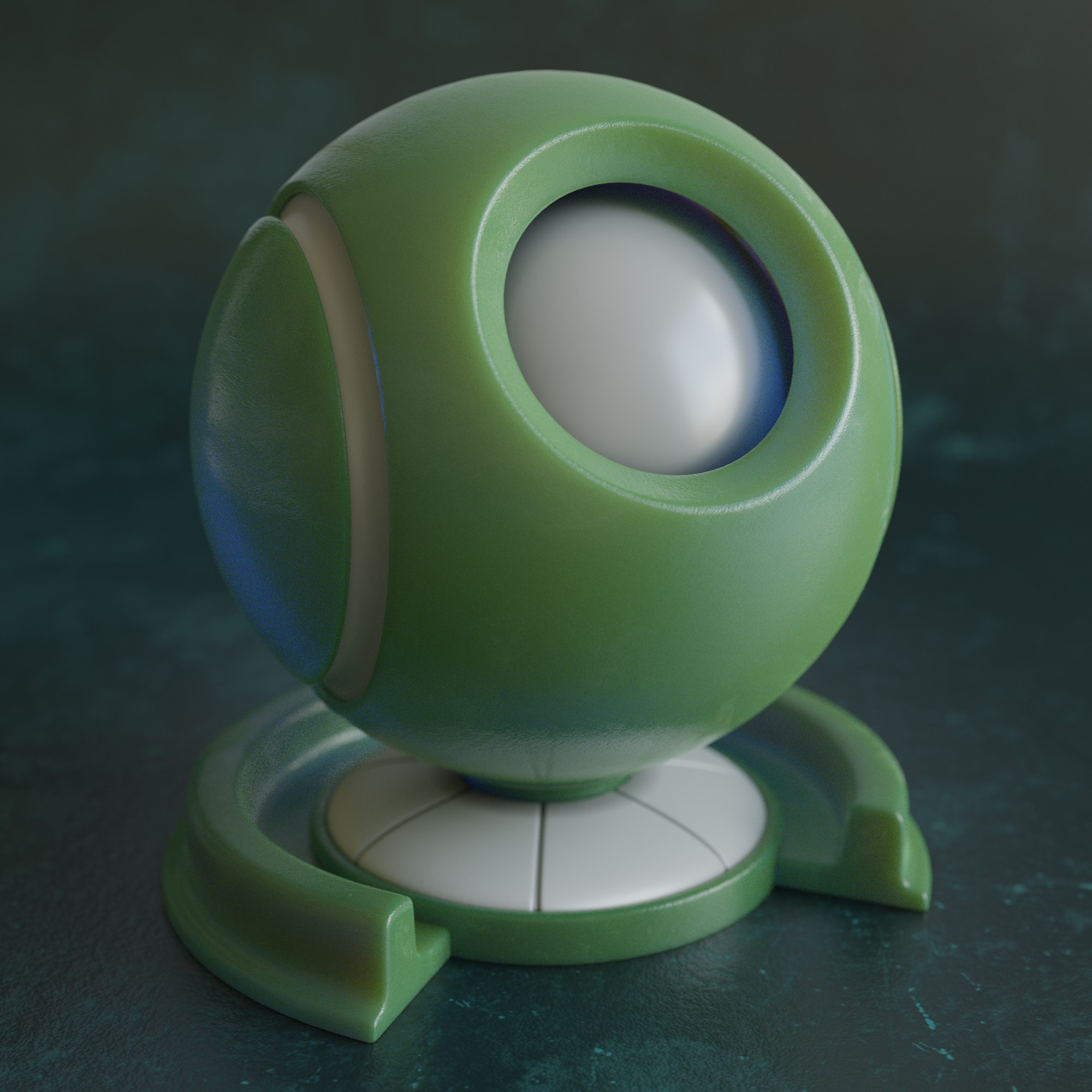 Initial pass at creating a material preview. Simple translucent plastic shown