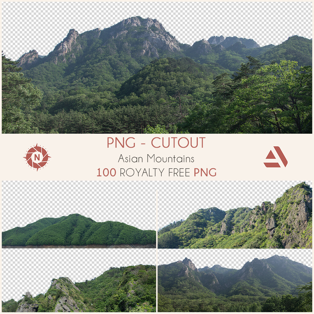 PNG Photo Pack: Asian Mountains  https://www.artstation.com/a/165925