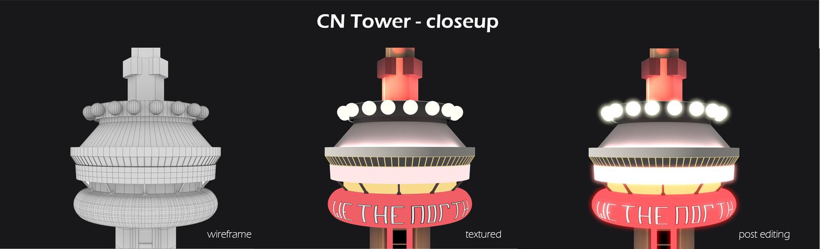 ASSET: CN Tower Closeup