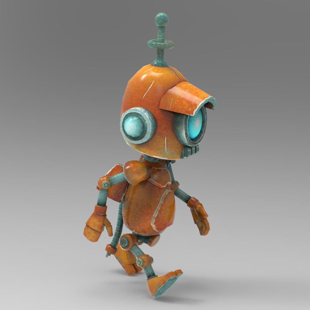 The star of the game. I modeled this little guy in Maya LT. The first image was rendered in keyshot.