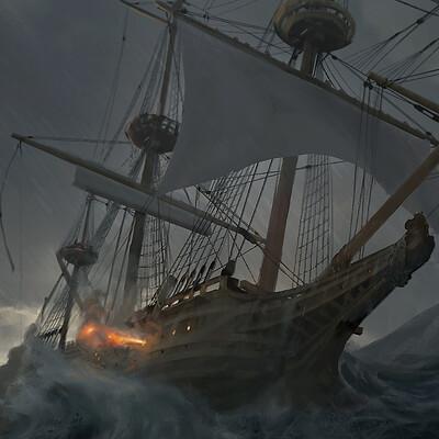 Bram willemot stormy sea