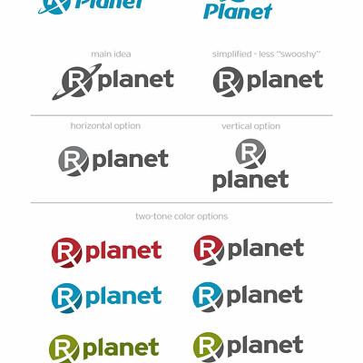 Garrett landry rxplanet logo options