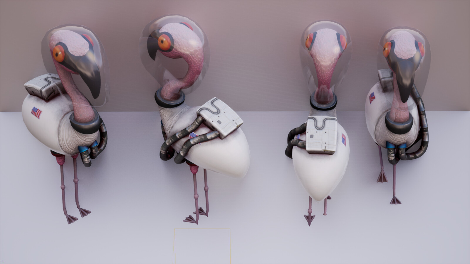 Buzz the Space Force Flamingo
