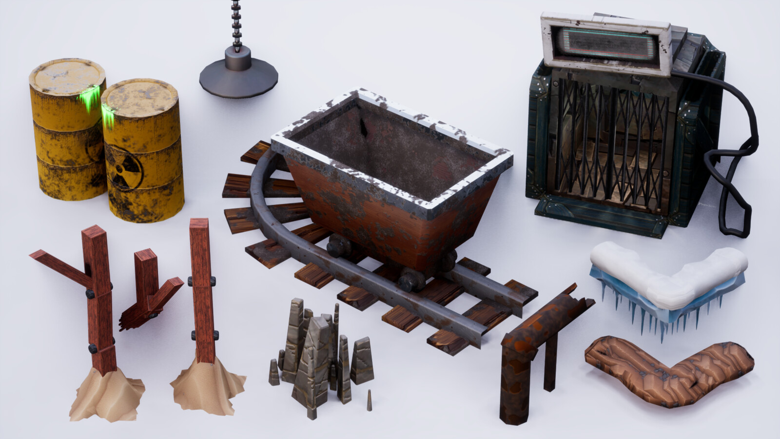 Various props in the levels