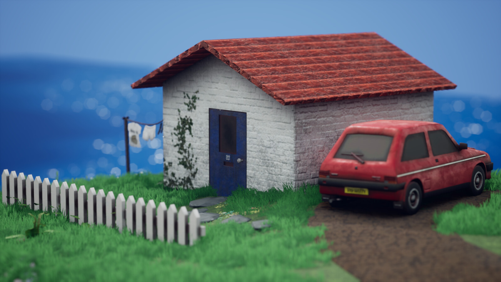 The Willy Residence. Grass and shrubs are from the UE4 marketplace
