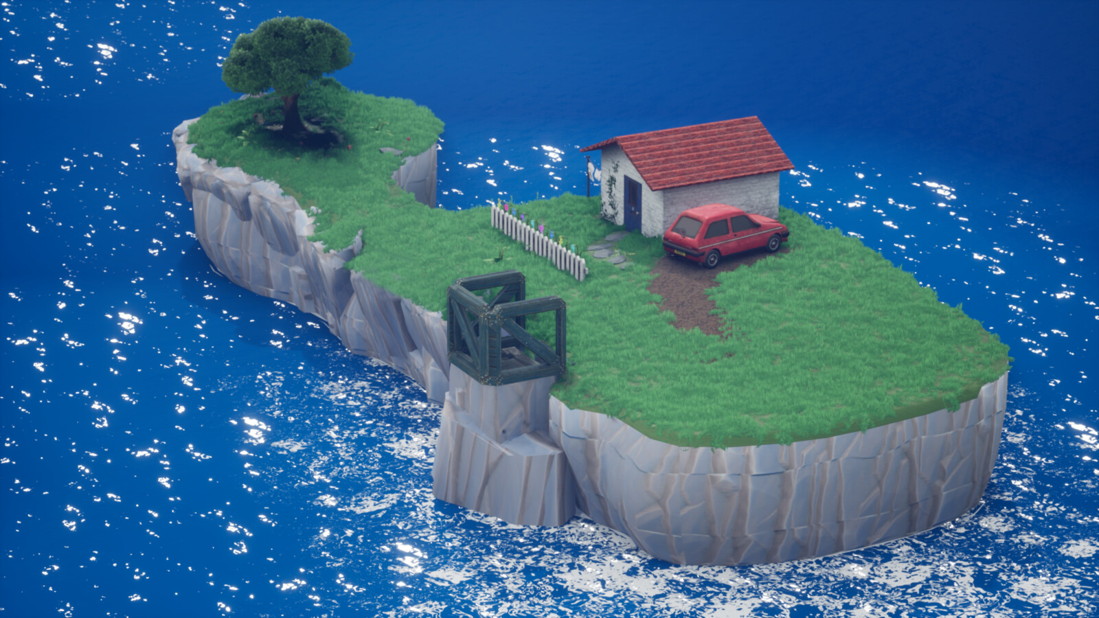 The isle of Willy. Grass, trees and plants part of a UE4 marketplace pack.