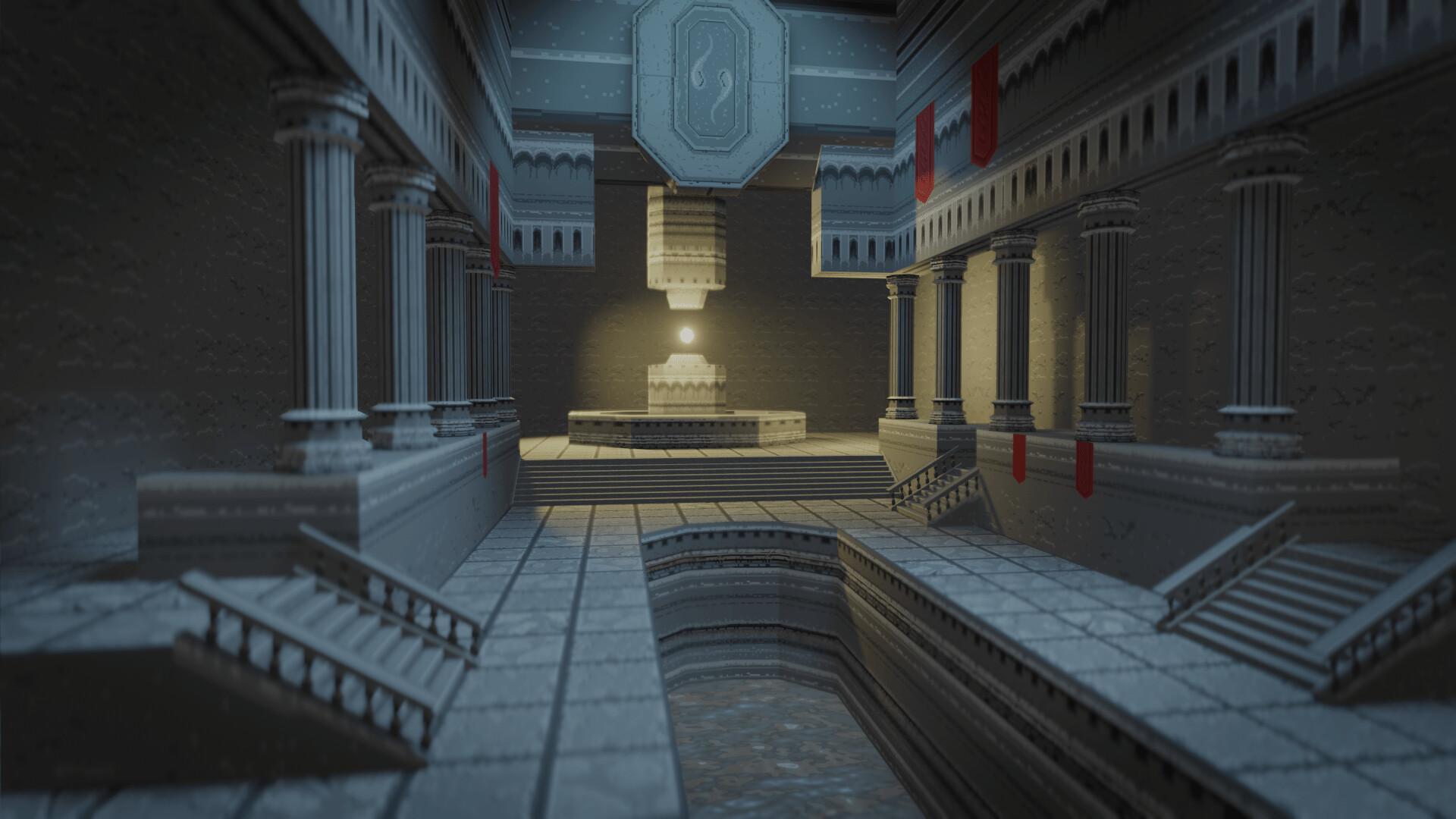 artstation pixel temple caglar yegit