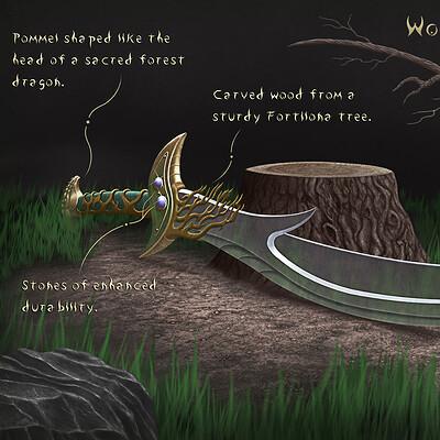 Tomasz pioszyk 1 woodland elven scimitar adjusted size