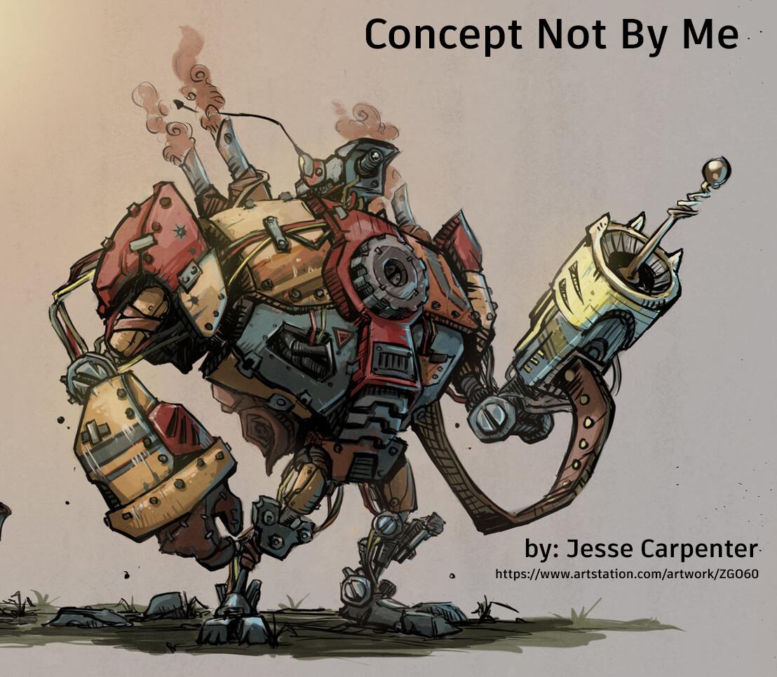 Again here is the concept by Jesse: https://www.artstation.com/artwork/ZGO60