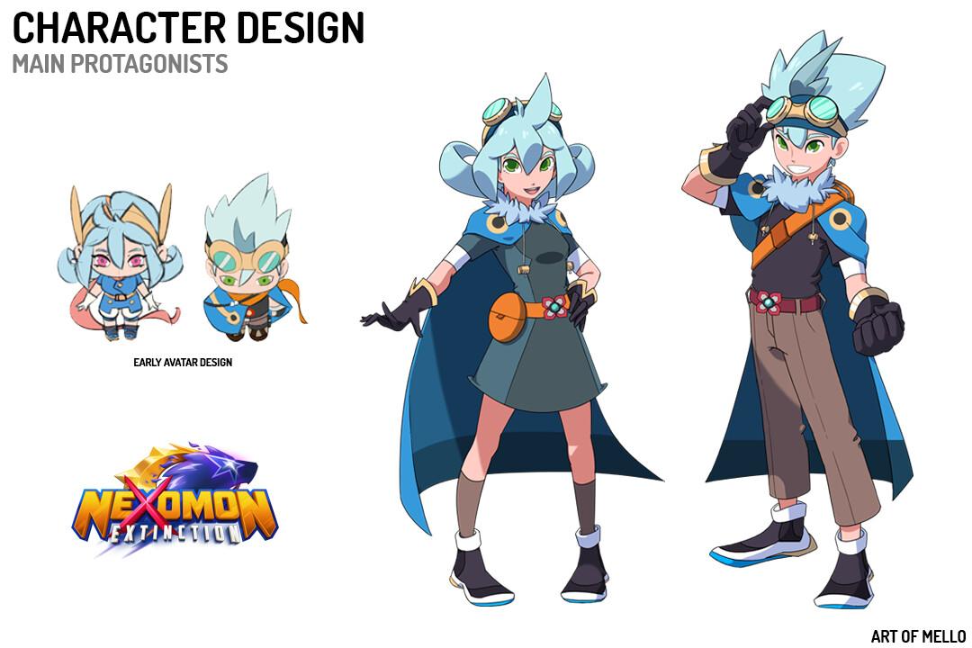 Nexomon Protagonist Designs
