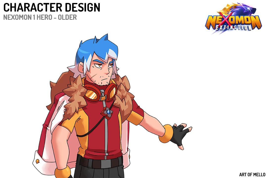 Grown Up version of Nexomon 1 Protagonist