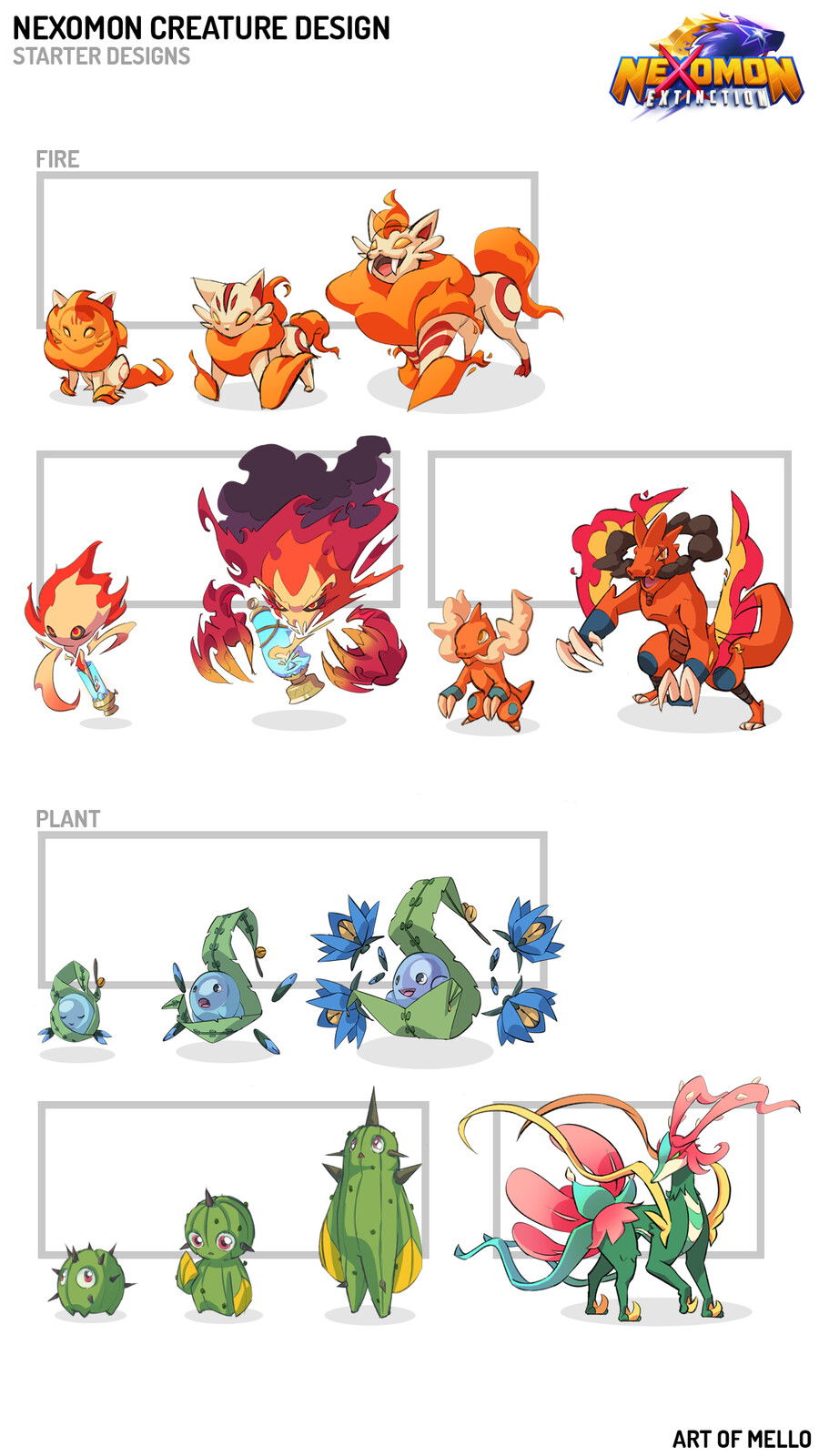 Nexomon Creature Designs