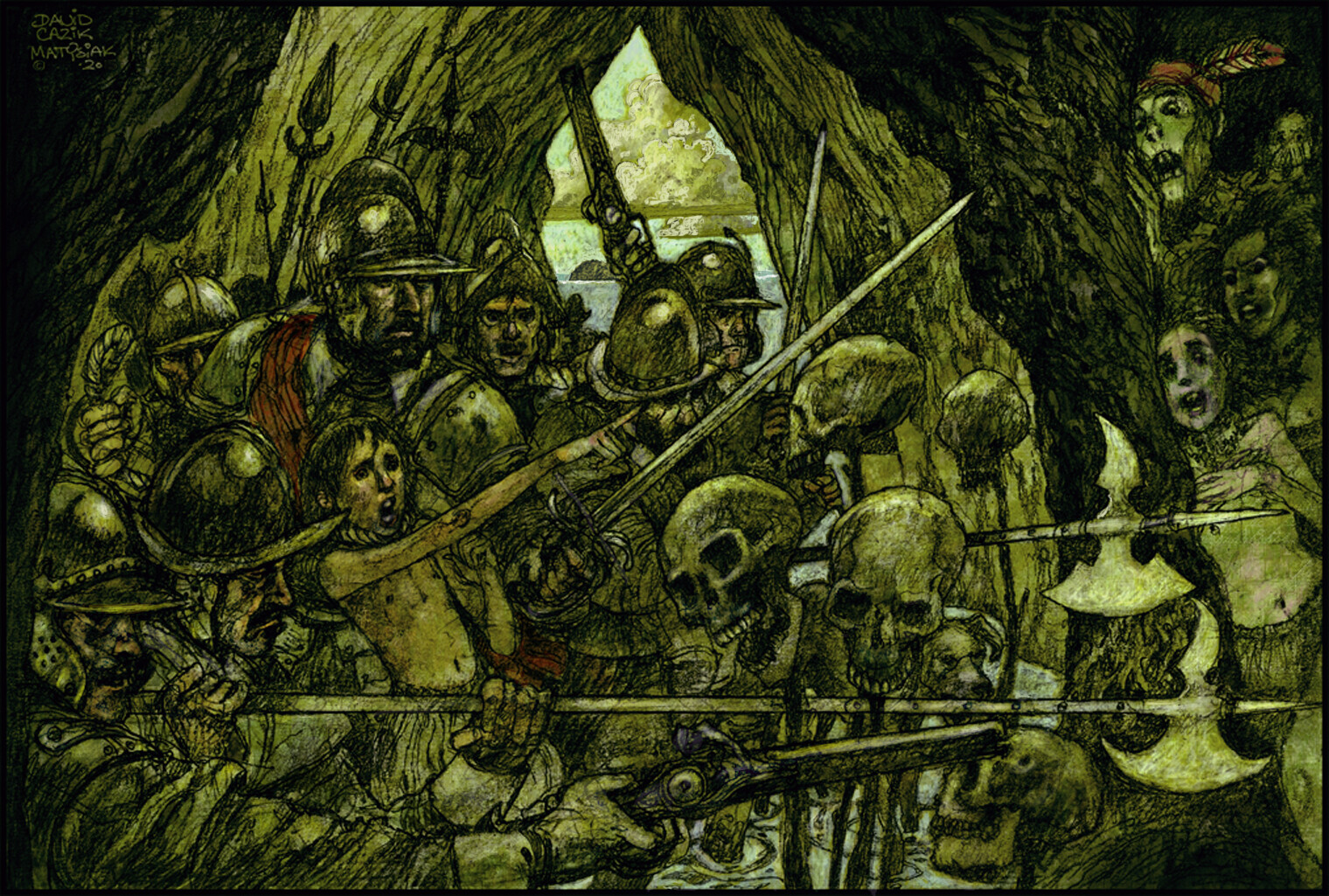 Capture Of Cannibal Sawney Bean. Scotland 1590.