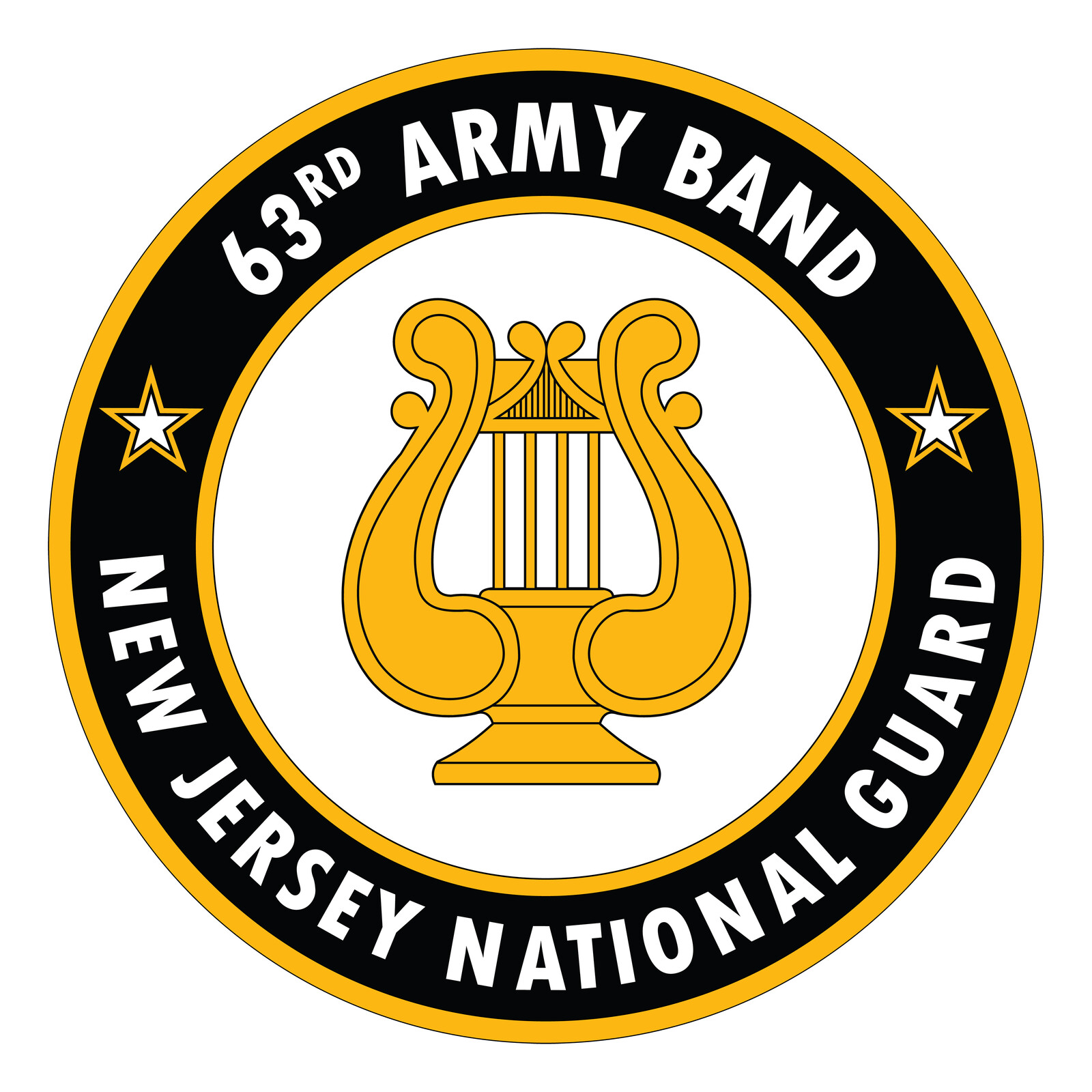 New Jersey Army National Guard Band (the 63rd Army Band) Crest