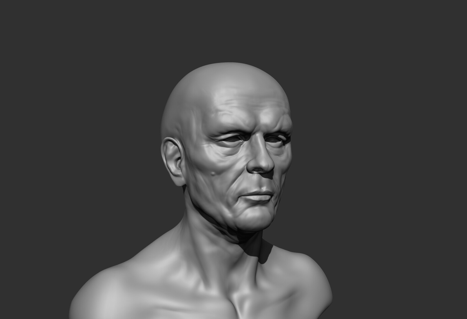 trying to  find the  bone marks  I  use  the  transparency on z brush using the see trough tool and  I put  the asian skull  to see find  the bone marks