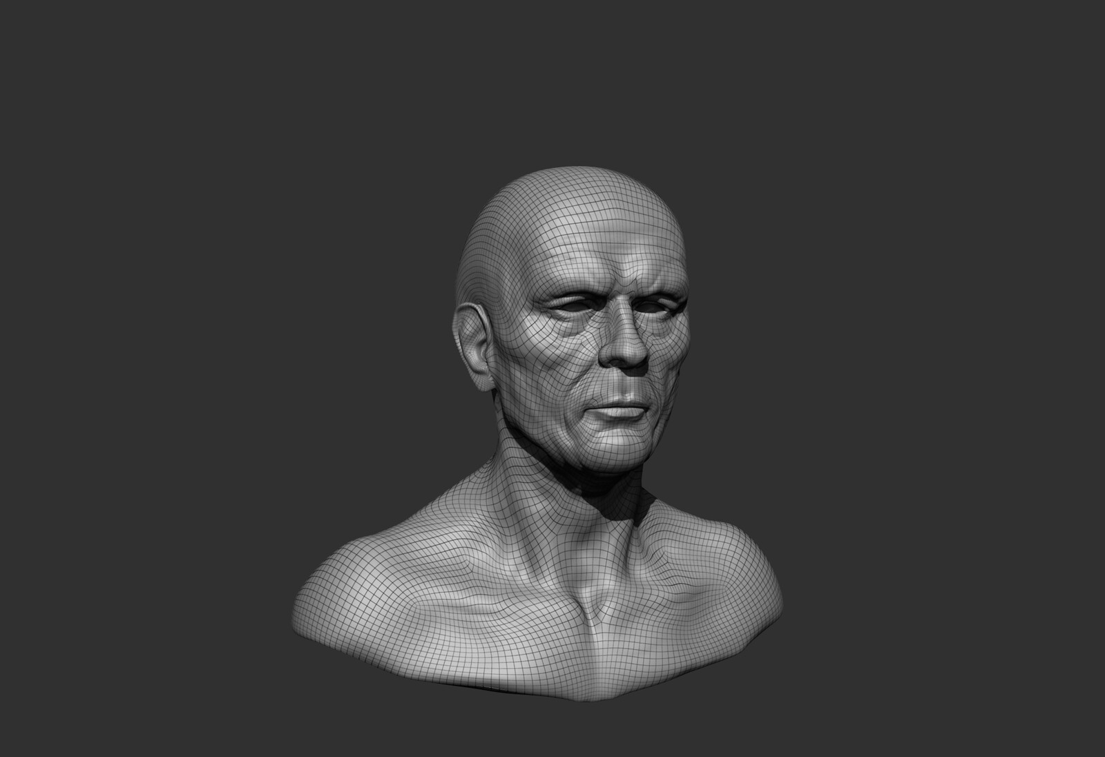 I played  with the  proportions between this heads to find the real bone marks.