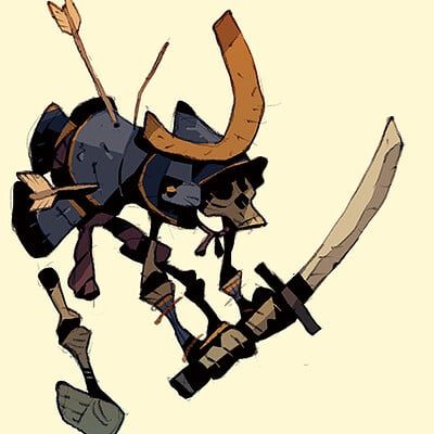 Satoshi matsuura 2020 08 13 samurai skeleton s