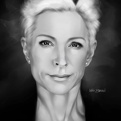 Lee bryan nana visitor painting by lee bryan 2020 sml