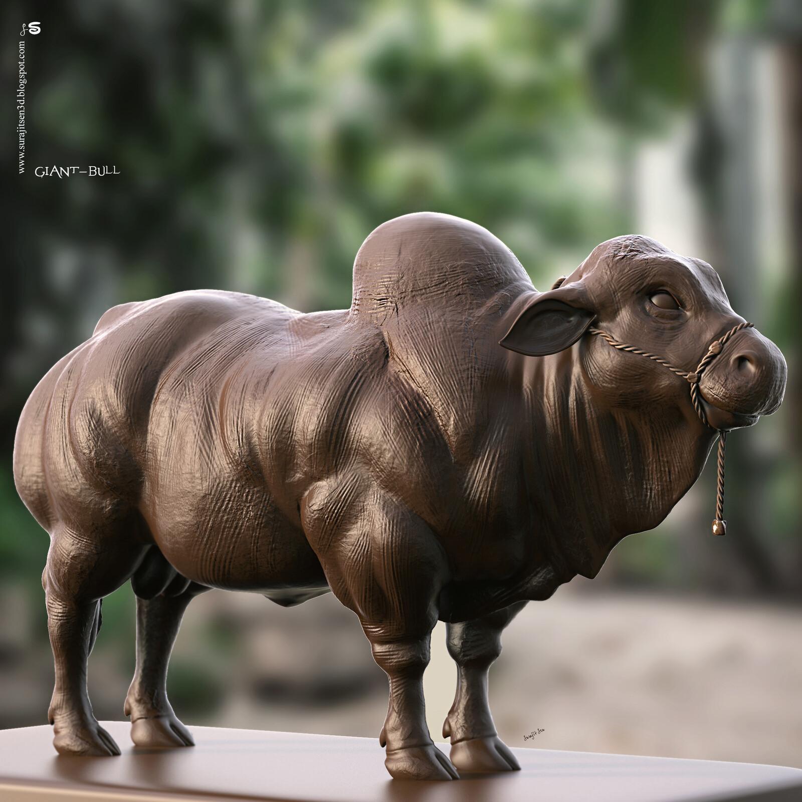 #todaystudy #todayssculpture Updated version one of my Digital Sculptures... Giant Bull Background music- #hanszimmermusic  #surajitsen #artist #indianartist #digitalsculpting #study #bull #bullsculpture