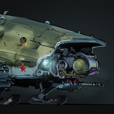 Samuel aaron whitehex brute gun ship concept 01