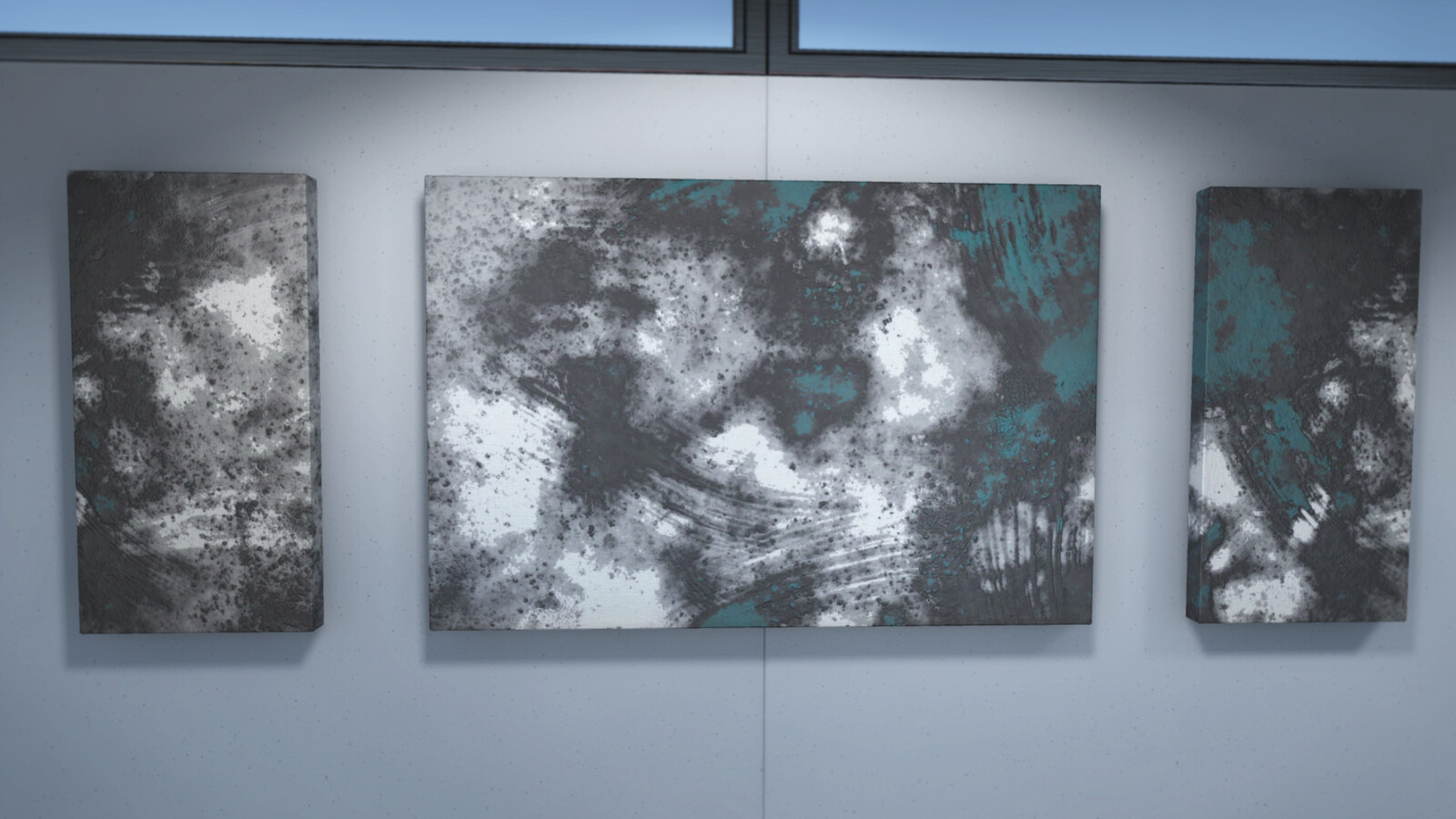 A few close-ups of the paintings in Unity