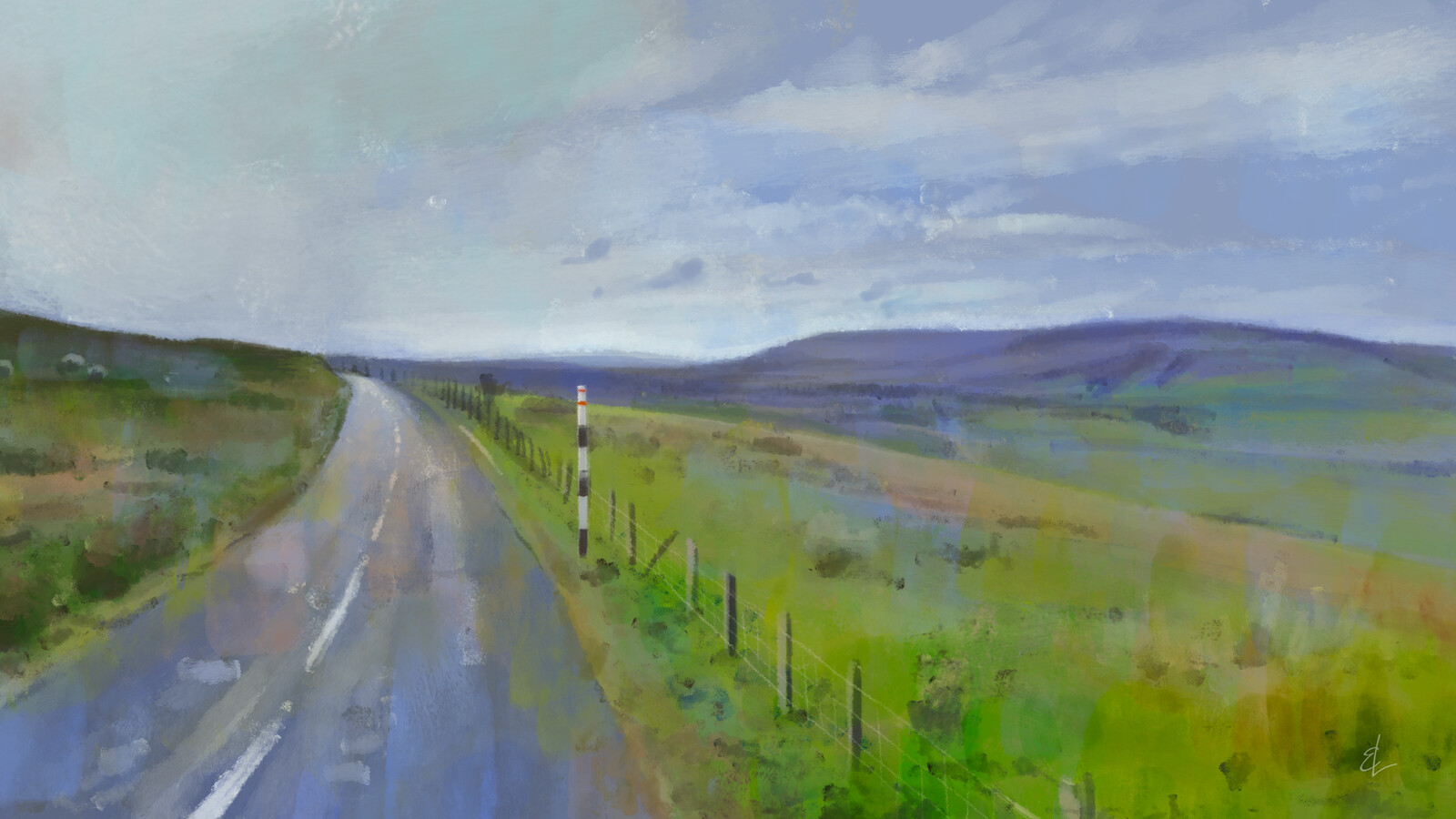 Some English Countryside - Quick Sketch