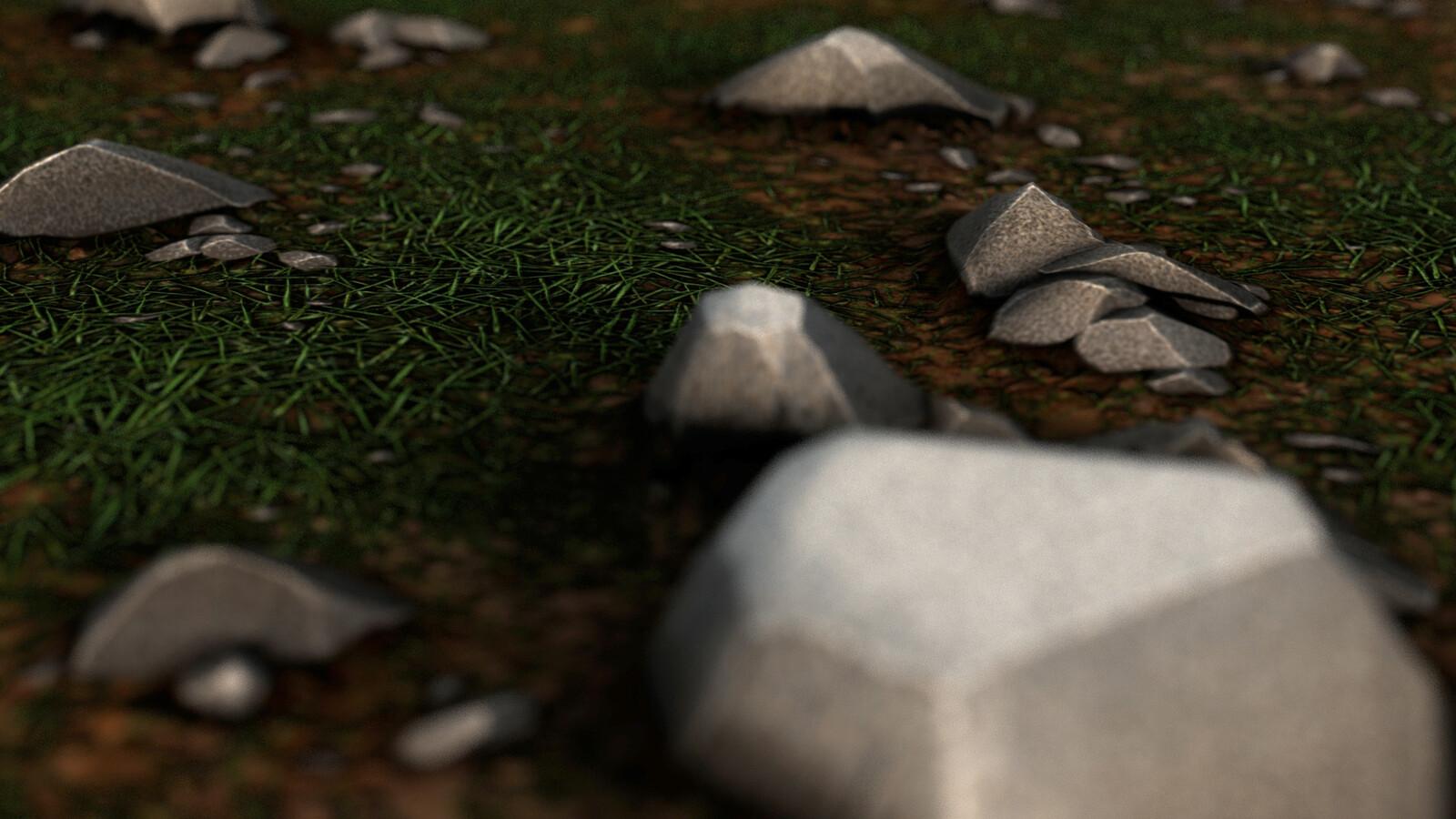 Grassy Rocks Substance Designer Material