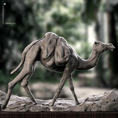 Surajit sen camel digital sculpture surajitsen aug2020a