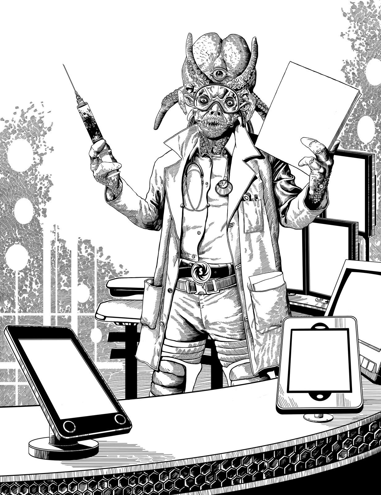 Doc Zot Illustration 1 Spacewarpcomic.com