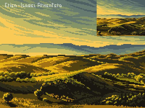 Pixel illustration #24 // Commission - Tuscany