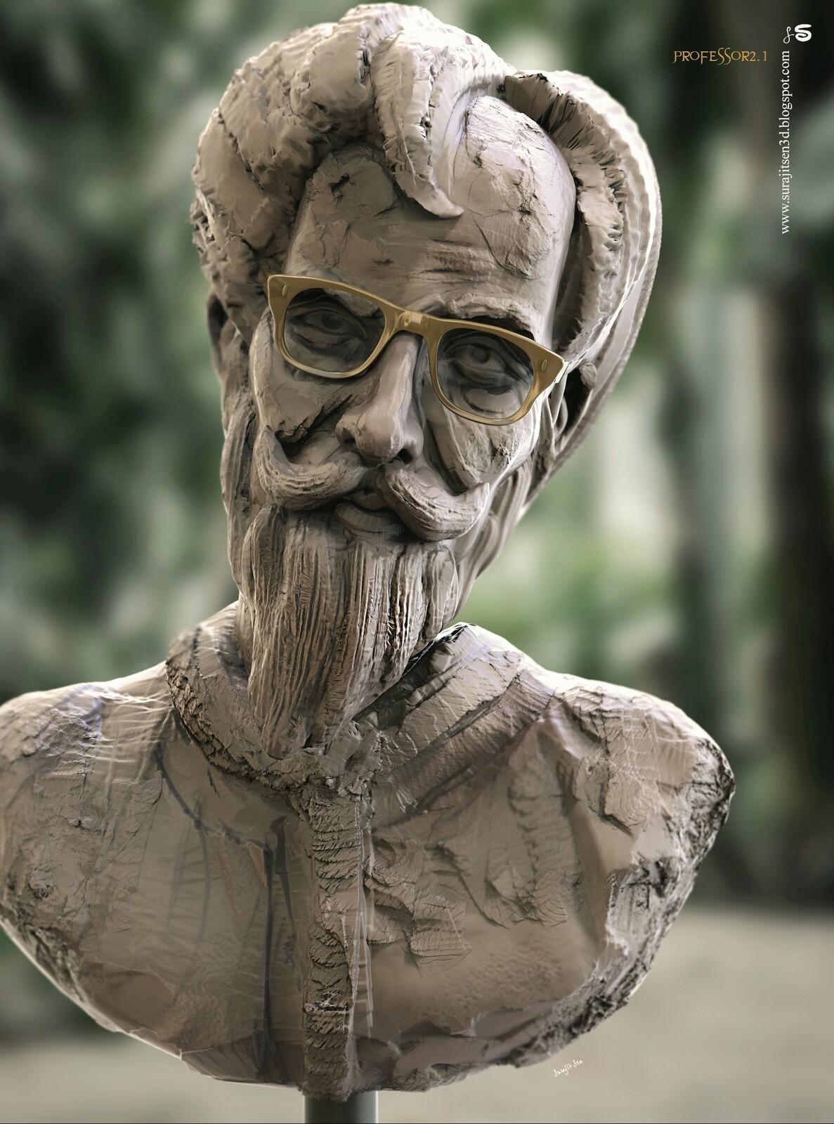 My free time speed Digital Sculpting ... Quick blocking. Professor 2.1 Background music- #hanszimmermusic