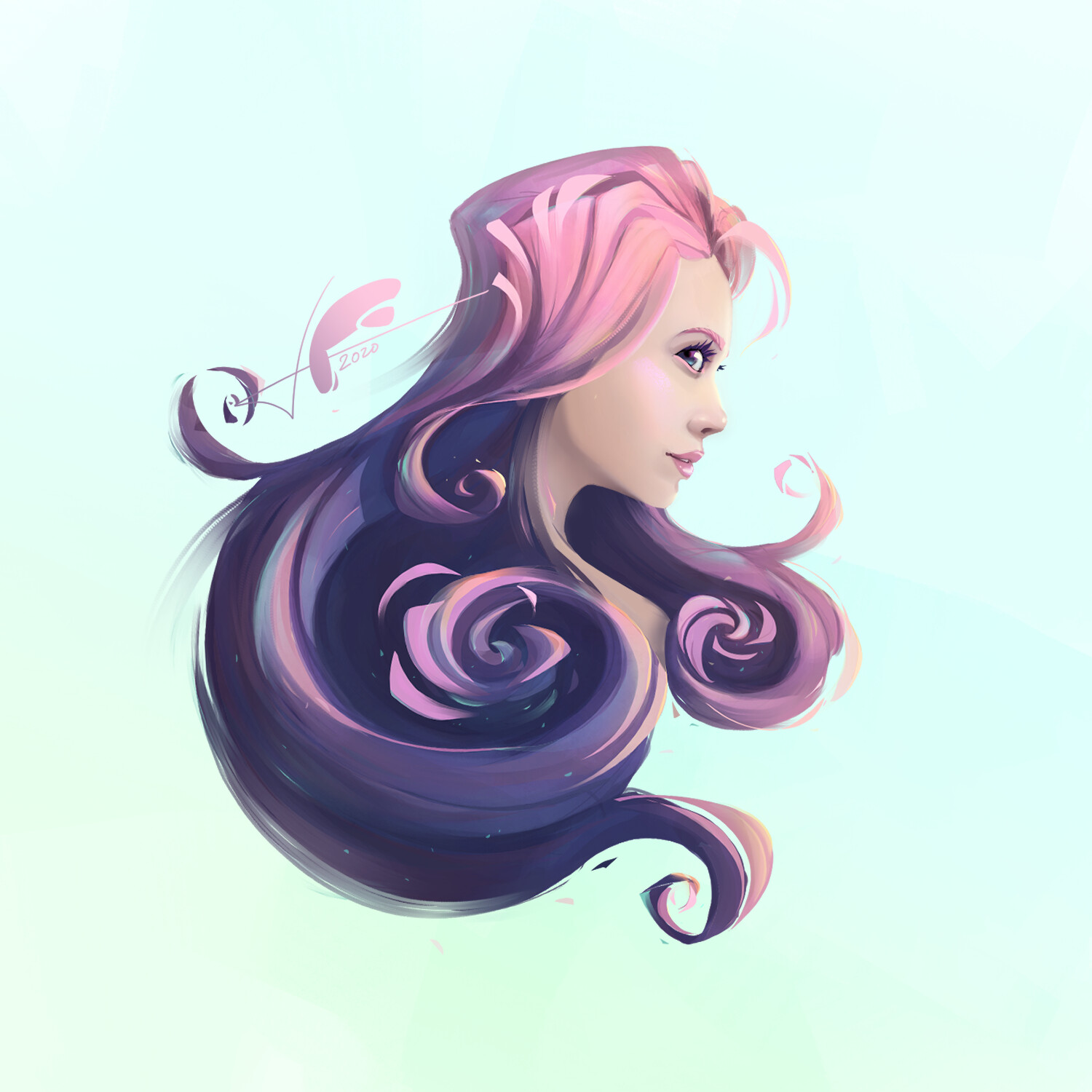 """""""ROSY WIND"""" -Digital painting"""