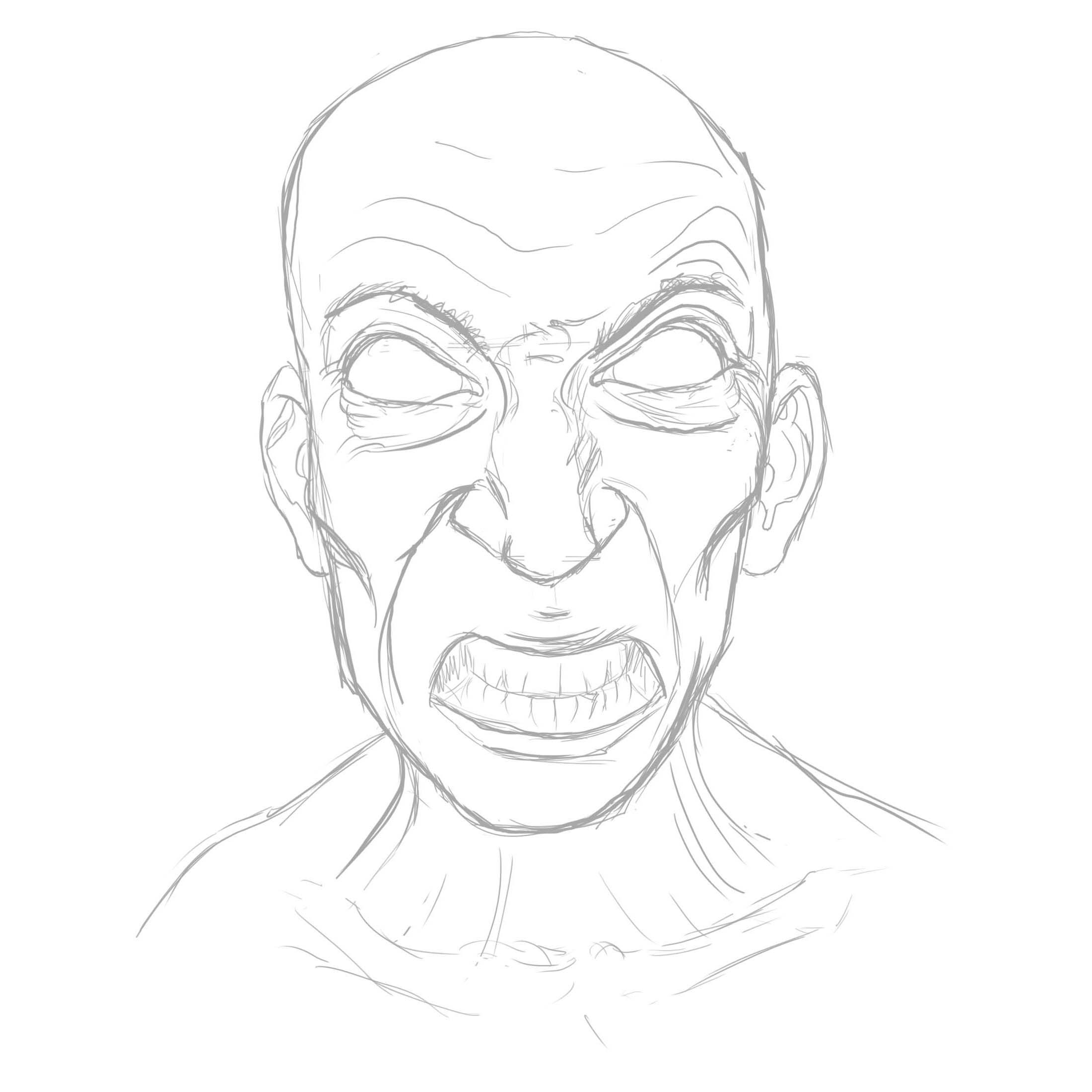 Started with a sketch and just went with the flow. I just knew I wanted him angry and VERY pretty.