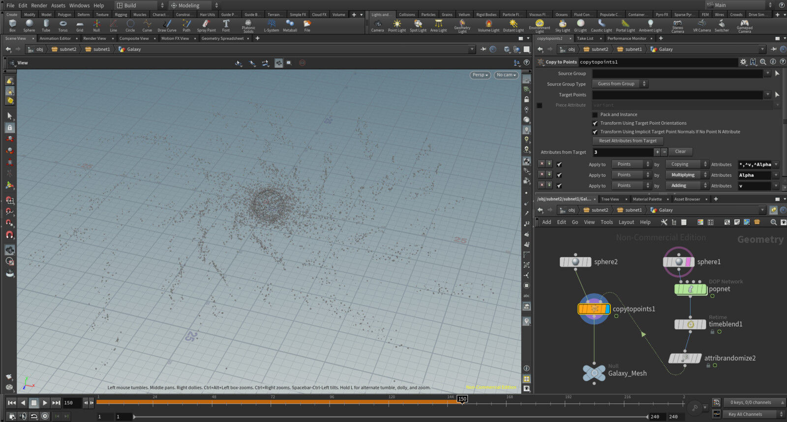 Creation of the Galaxy in Houdini