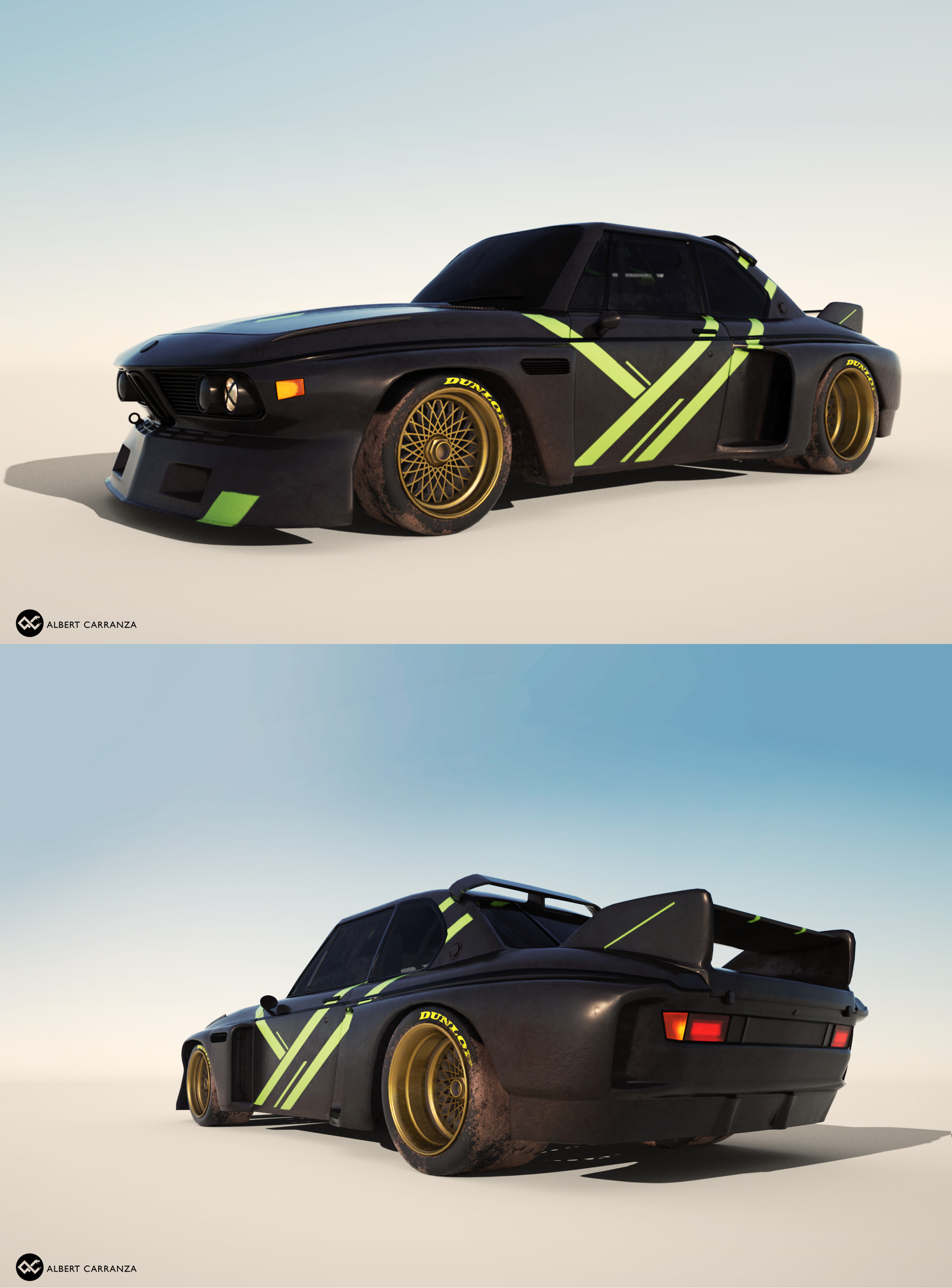 BMW CSL. Modeled in Maya. Painted in Substance Painter. Rendered in octane