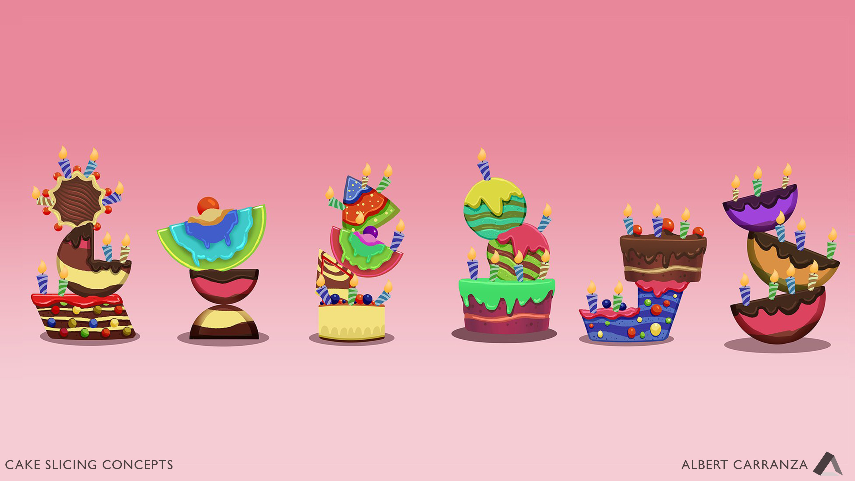 Cake Designs for Slicing Game