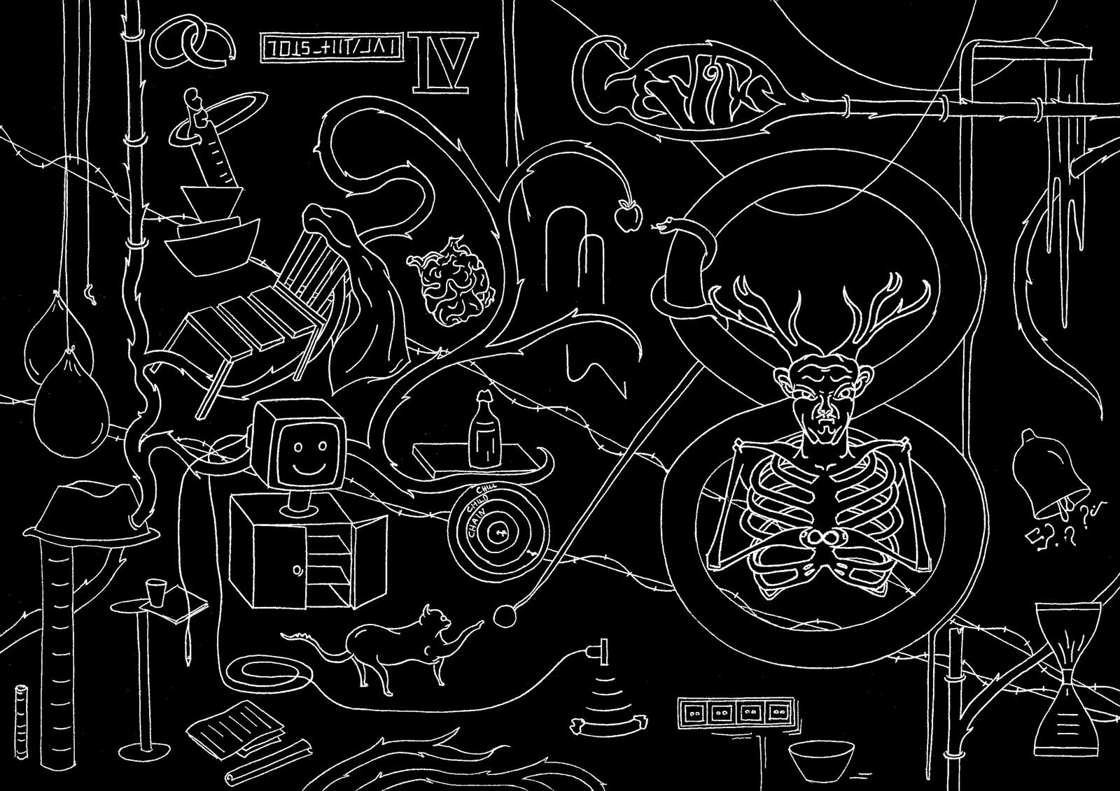 Cover illustration of Geyik Fanzine
