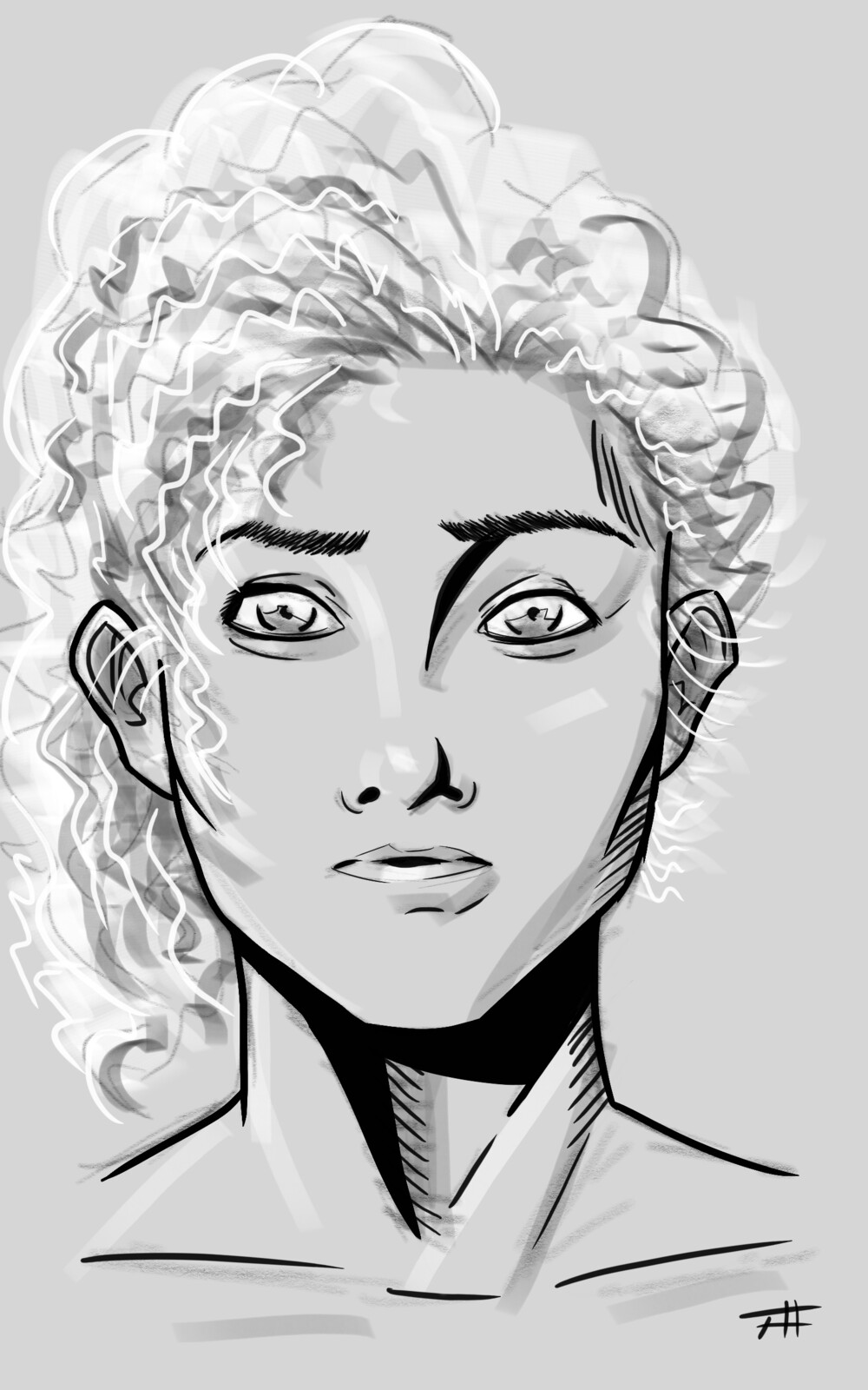 Another unnamed character from an upcoming project. Digital