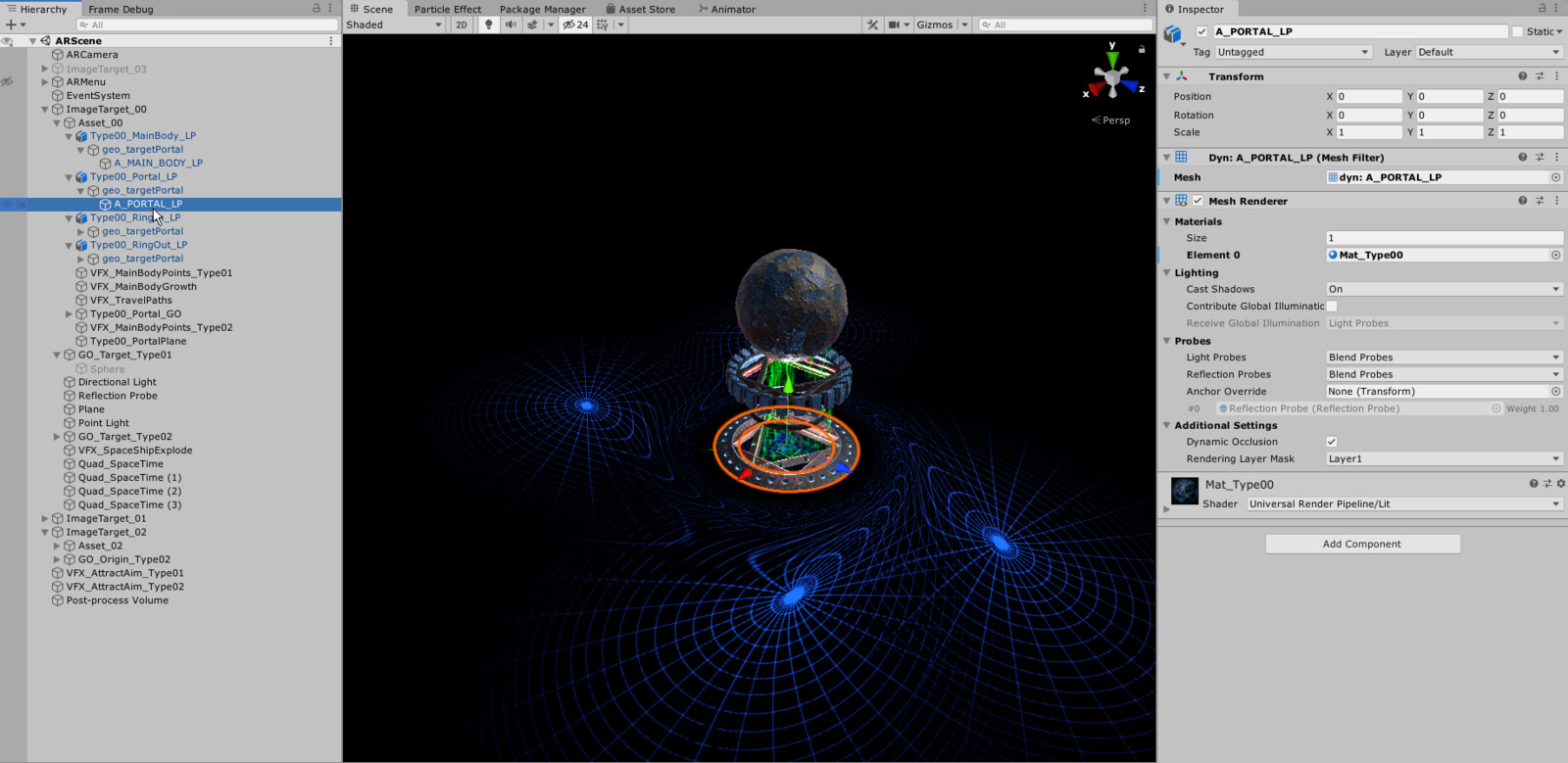 AR environment development in Unity 3D.