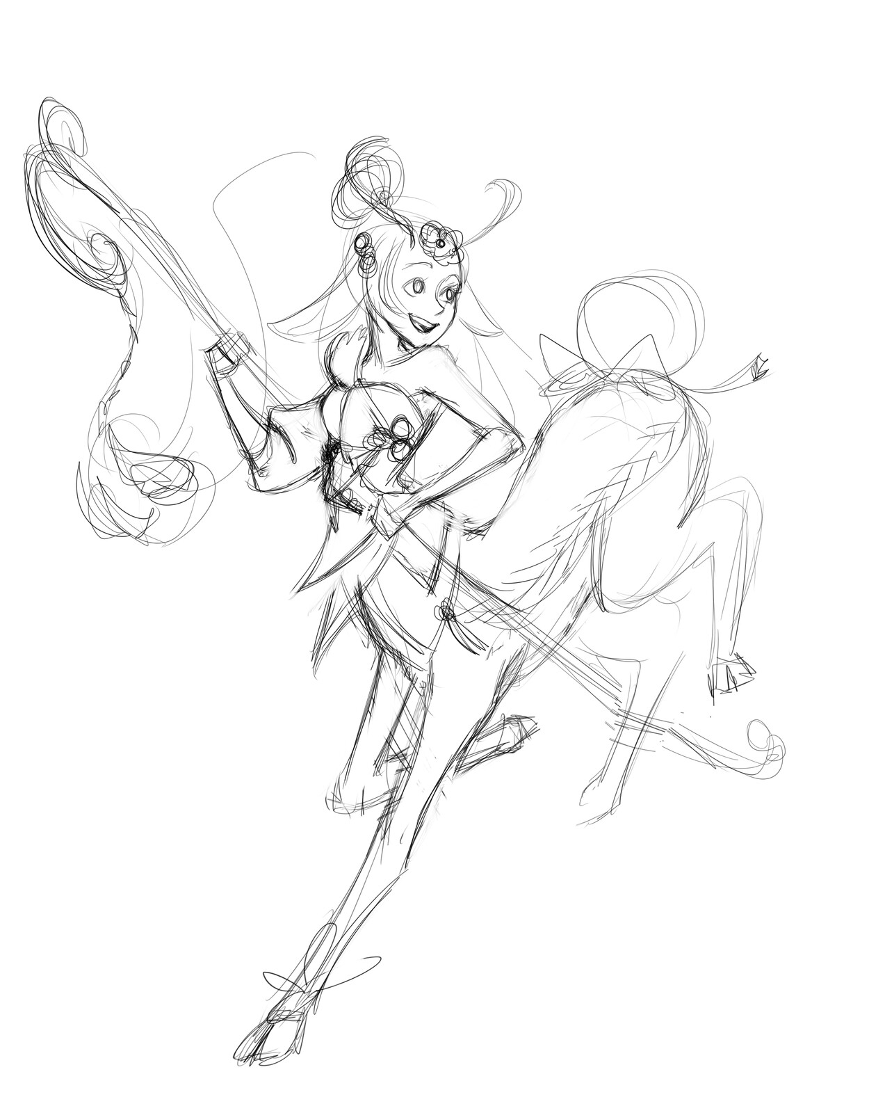 first rough sketch