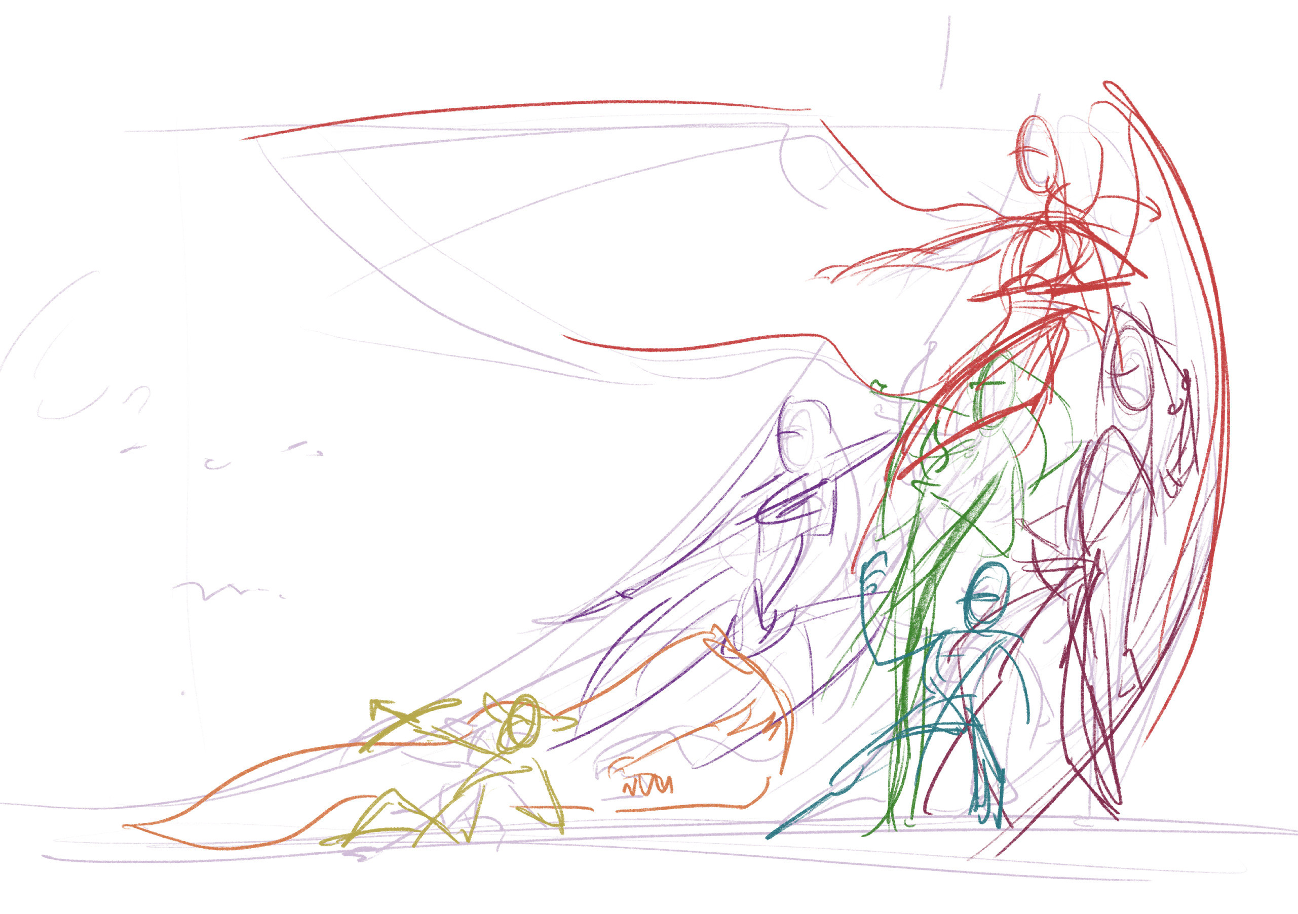 Initial composition sketch for the piece