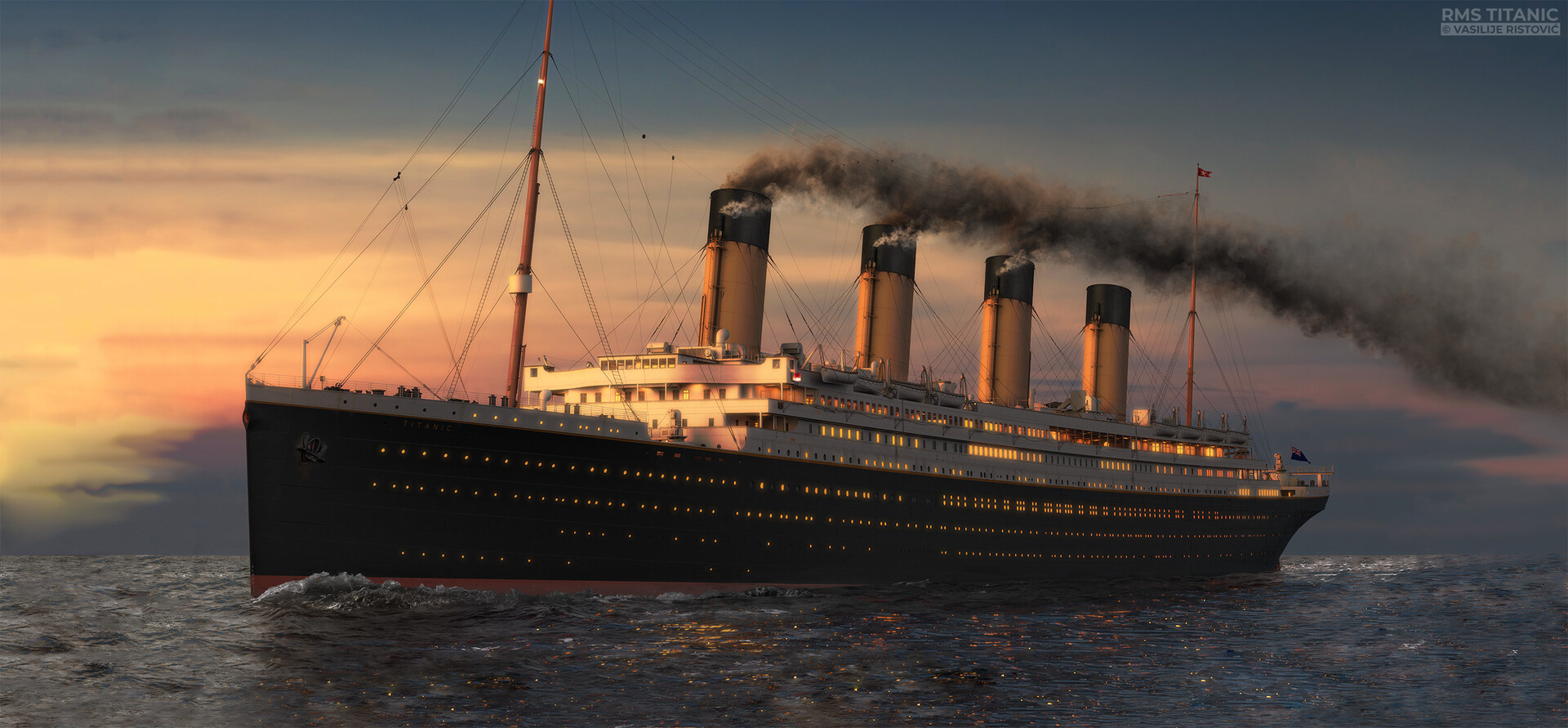 Montage Titanic Trumpeter 1/200 - Page 10 Vasilije-ristovic-titanic-sunset-print-prosirena-web
