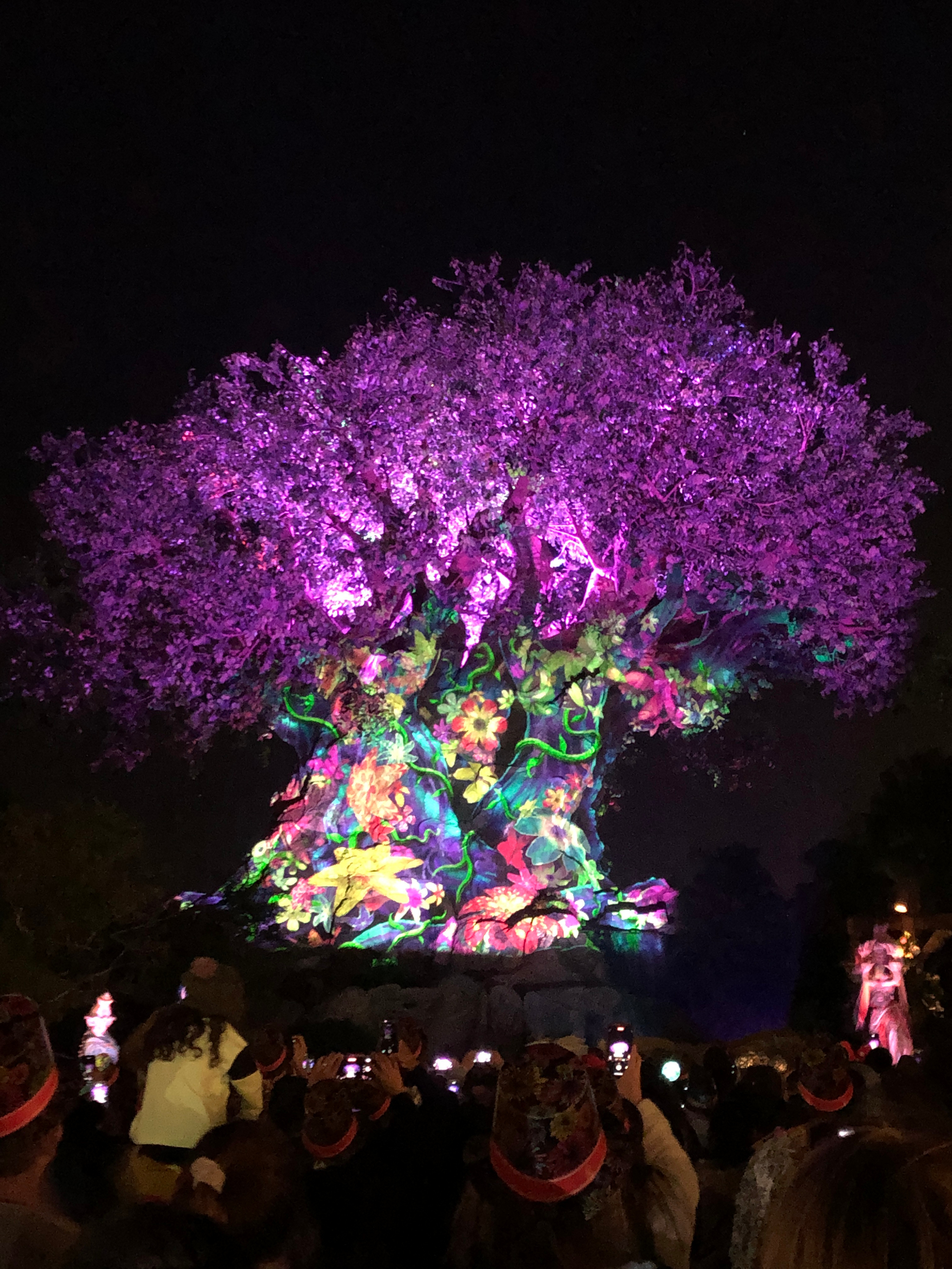 Awakening Tree at the beginning of the show
