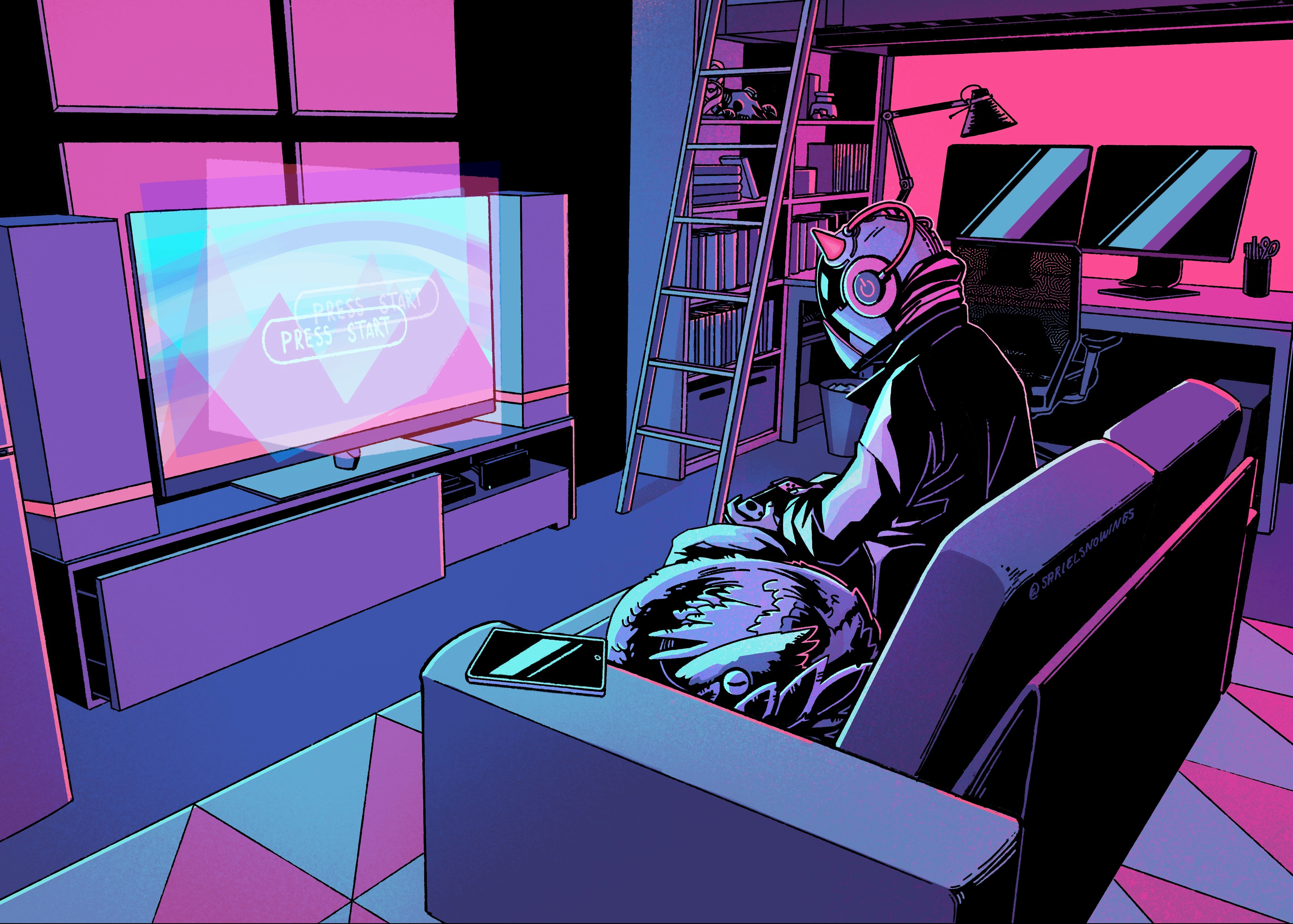 Final illustration. I'm so happy with the colours and lighting