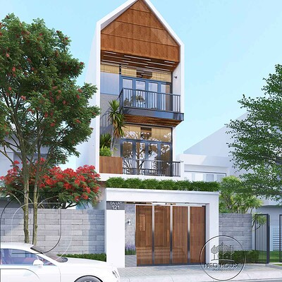 Neohouse architecture mat tien nha pho 5m 3 tang 1