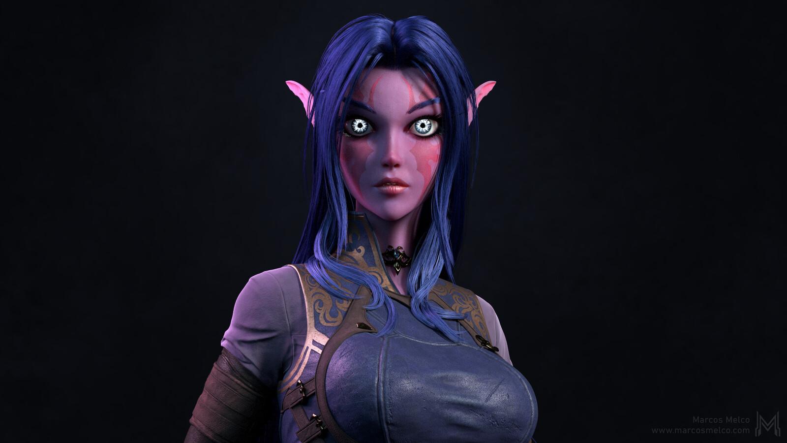 No armor close-up