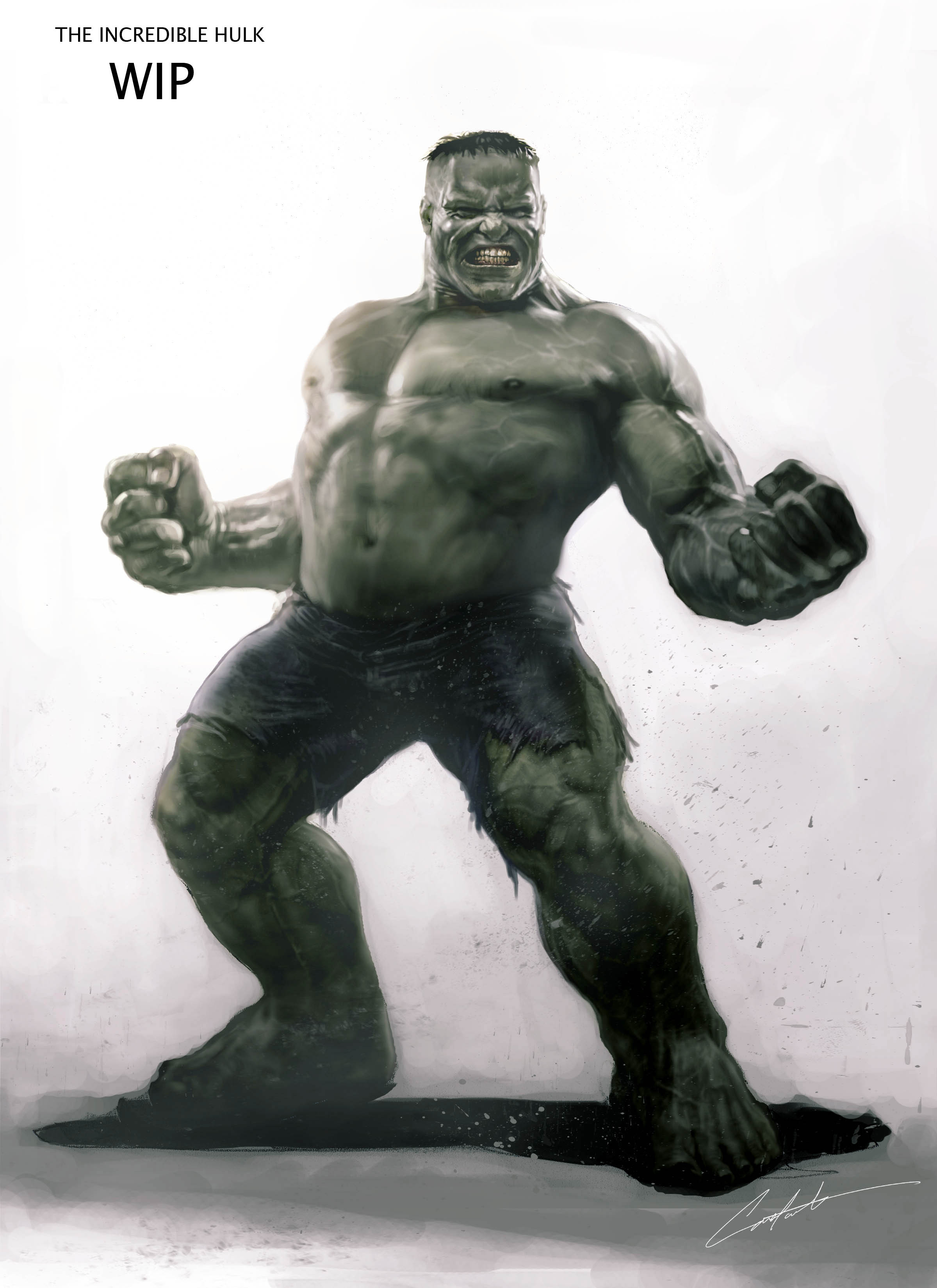 Early Hulk Design for the incredible hulk movie
