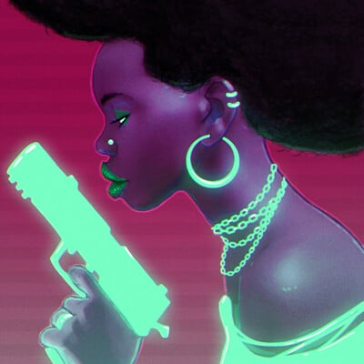 Chema samaniego neon gun