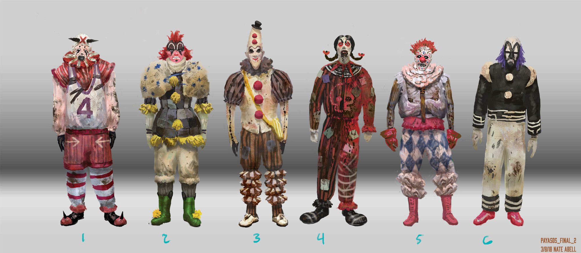 Clown Gang.  They ran with 3.  Inspired by some rave clowns I saw at a con in 2007.